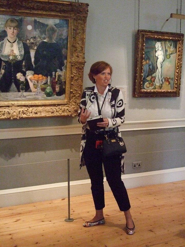 Yvonne Hilgenkamp in de Courtauld Gallery in Londen